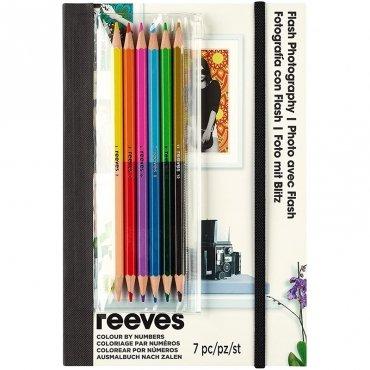 Комплект за рисуване по номера с цветни моливи 7 части
