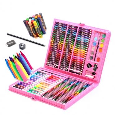 Комплект за рисуване 168 части в розово куфарче
