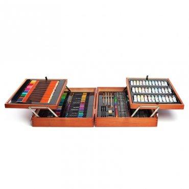 Мега комплект за рисуване 174 части в куфар