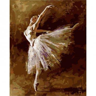 """Картина за рисуване по номера  """"Балерина"""""""