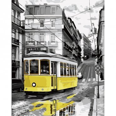 """Картина за рисуване по номера  """"Трамвай"""""""