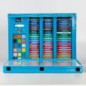 Комплект за рисуване в троен син куфар 176 части