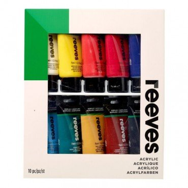 Комплект акрилни бои 10 цвята x 75 ml Reeves