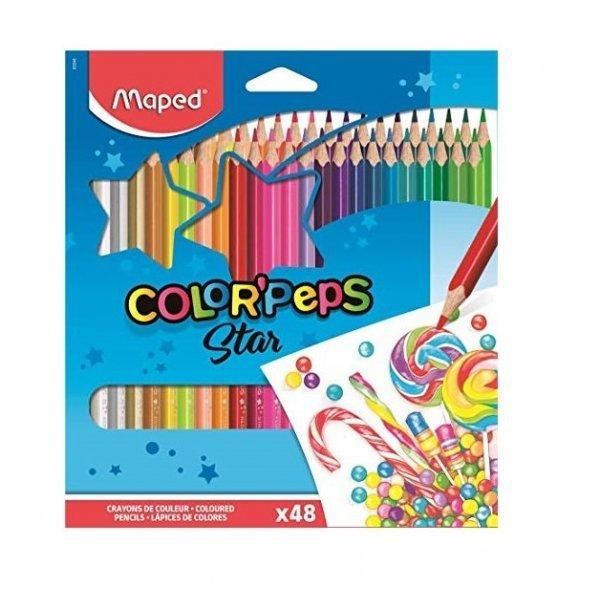 Комплект цветни моливи 48 различни цвята