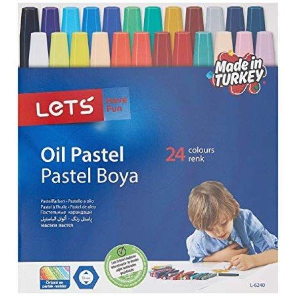 Маслени пастели за рисуване комплект 24 цвята