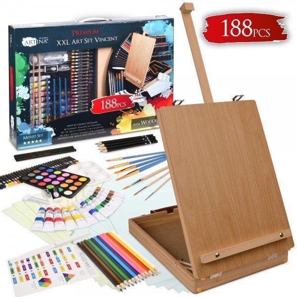 Мега комплект за рисуване Vincent 188 части